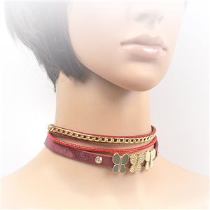 Collier ras de cou Chic et Strass New Collection Choker L32-40cm 71696