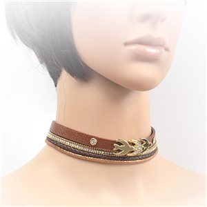 Collier ras de cou Chic et Strass New Collection Choker L32-40cm 71703