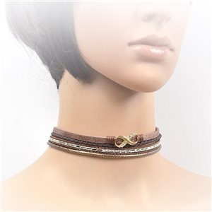 Collier ras de cou Chic et Strass New Collection Choker L32-40cm 71709