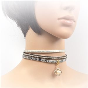 Collier ras de cou Chic et Strass New Collection Choker L32-40cm 71723