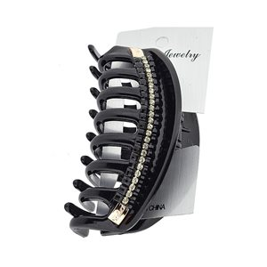 New Collection Hair Clip Black & Strass L10cm 71945