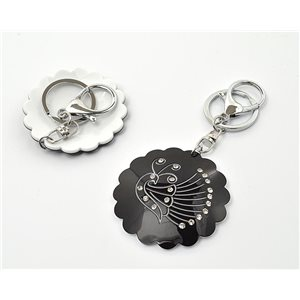 Keychain Fashion Strass New Collection Black & White 71932