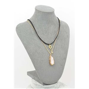 Collier Pierre reconstituée Collection Chic L42-48cm 71766