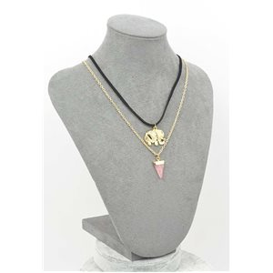 Collier Pierre reconstituée Collection Chic L42-48cm 71767