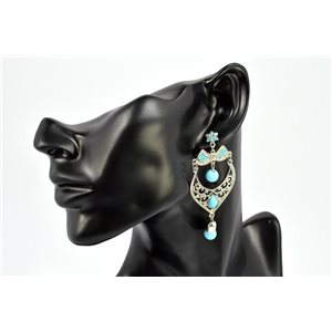 Earrings Rhinestones and Turquoise Jewelry nail-fastening 72326