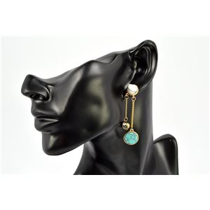 Earrings Rhinestones and Turquoise Jewelry nail-fastening 72332