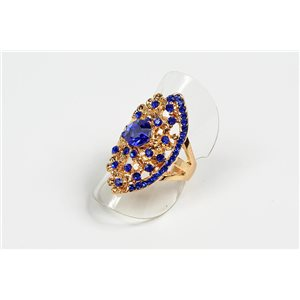 Adjustable Full Strass Ring on metal gold color New Collection 72727