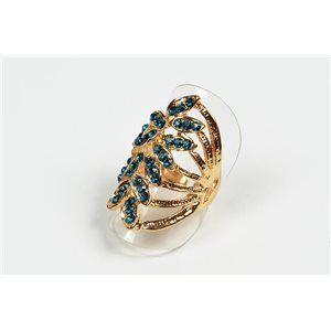 Adjustable ring Full Strass on metal silver color New Collection 72744