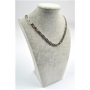Collier Chaine en Acier inoxydable L50cm Steel Color New Collection 72751
