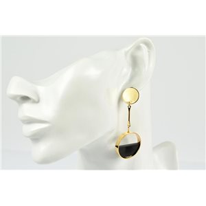 1p Earrings Ear Studs Metal Color Gold Collection Graphika 73194