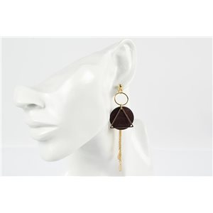 1p Earrings Earrings with Nail metal color Gold Collection Graphika 73170