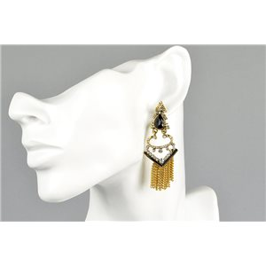 1p Earrings Earrings with Clou set with Strass Collection ATHENA Les Estivales 73429