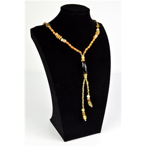 Necklace CYBELE Collection Bead Charms and Mother of Pearl Jewelry without clasp L65cm 73521