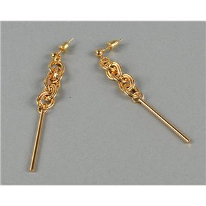 1p earrings earrings pendant nail metal gilded fashion trends ete 73730