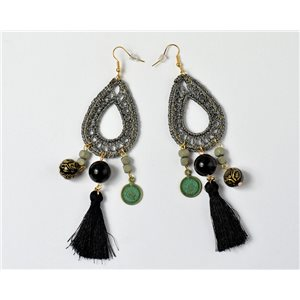 1p Earrings Pearls and Pompons Collection 2018 Ethnic Chic 73921