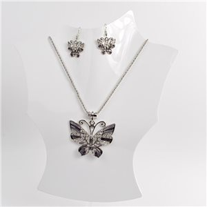 Necklace VISAGE enamels and rhinestone New Collection 2018 Winter Color 75005