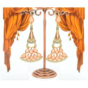 1p Boucles Oreilles à clou sertie de Strass Collection ATHENA 8cm 75211