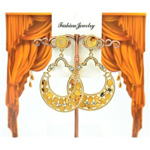 1p earrings studded with Rhinestones Collection ATHENA 7cm 75213