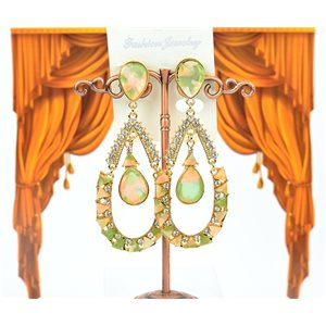 1p earrings studded with Rhinestones Collection ATHENA 8cm 75216