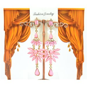 1p earrings studded with Rhinestones Collection ATHENA 8cm 75227