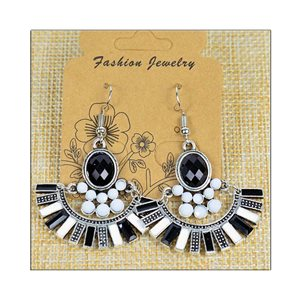 1p Earrings ATHENA silver plated metal set with Rhinestones New Ethnic Collection 75475