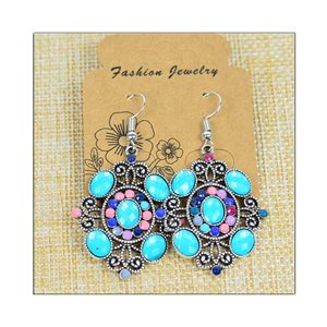 1p Earrings ATHENA silver plated metal set with Rhinestones New Ethnic Collection 75495