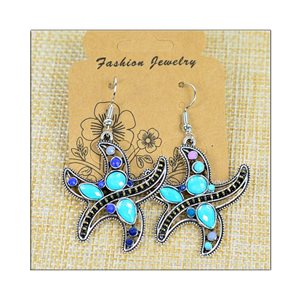 1p Earrings ATHENA silver plated metal set with Rhinestones New Ethnic Collection 75501