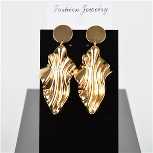 1p Earring Drop Earrings 7cm Metal Gold Color New Graphika Style 75720