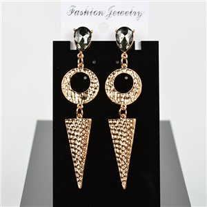 1p Earring Drop Earrings 8cm Metal Gold Color New Graphika Style 75738