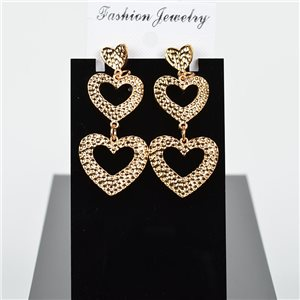1p Earring Drop Earrings 6cm Metal Gold Color New Graphika Style 75734