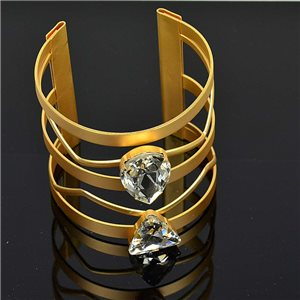 Bracelet TorK Claw Rhinestone Metal Gold Color Fashion Chic L60mm New Collection 75590