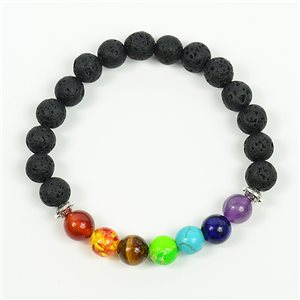 Bracelet Porte Bonheur 7 Chakras en Pierre Naturelle New Collection 75779