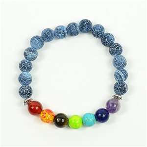 Bracelet Porte Bonheur 7 Chakras en Pierre Naturelle New Collection 75782