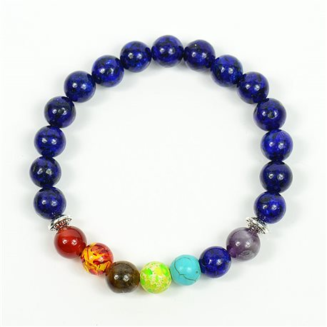 Charm Bracelet 7 Chakras Natural Stone New Collection 75786