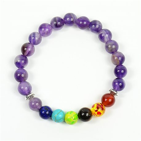 Charm Bracelet 7 Chakras Natural Stone New Collection 75788