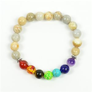 Bracelet Porte Bonheur 7 Chakras en Pierre Naturelle New Collection 75790
