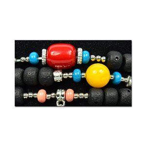 Bracelet CYBELE Cuff 3 Ranks Bead Charms Collection and Jewelry on Elastic Wire New Collection 75985