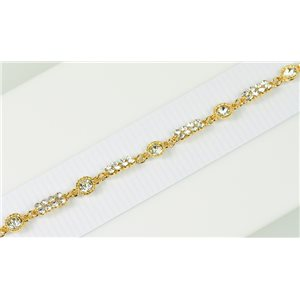 Gold Color metal bracelet set with Rhinestones L19 cm The Best Collection Chic 76016