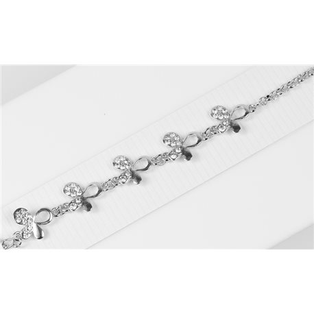 Silver Color metal bracelet set with Rhinestones L19 cm The Best Collection Chic 76027