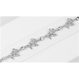 Bracelet métal Silver Color serti de Strass L19 cm The Best Collection Chic 76029