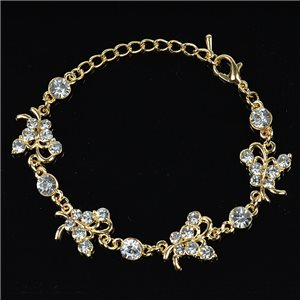 Bracelet métal Gold Color serti de Strass L19 cm The Best Collection Chic 76030