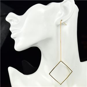 1p Earring Drop Earrings metal nail color GOLD New Graphika Style 76074