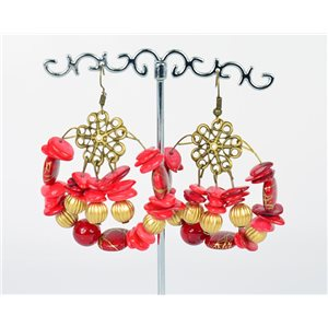 1p Earrings Ears Nacre and Shells Mode Fashion Summer 76160