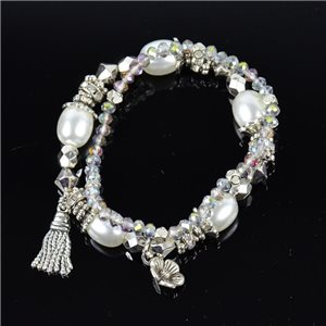 Bracelet CYBELE Jewelry Bead Charms on Elastic Wire New Collection 76131