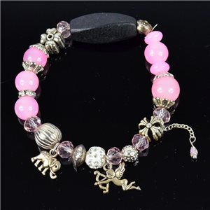 Bracelet CYBELE Jewelry Bead Charms on elastic thread New Collection 76132