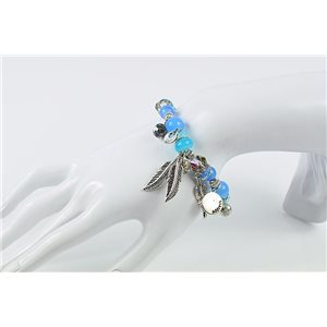 Bracelet CYBELE Bijoux Bead Charms sur fil élastic New Collection 76134
