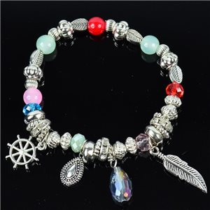 Bracelet CYBELE Jewelry Bead Charms on Elastic Wire New Collection 76135