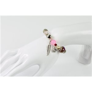 Bracelet CYBELE Bijoux Bead Charms sur fil élastic New Collection 76142