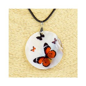 Pendant necklace 5 cm Natural Mother of Pearl Fashion Design L48cm New Collection 76181
