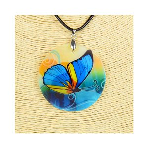 Pendant necklace 5 cm Natural Mother of Pearl Fashion Design L48cm New Collection 76185